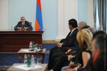 President Serzh Sargsyan received delegation of the Fund for Armenian Relief
