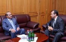 ՀՀ ԱԺ նախագահն ընդունեց Բելառուսի դեսպանին