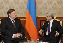 Սերժ Սարգսյանն ընդունել է ԵԱՀԿ երևանյան գրասենյակի նորանշանակ ղեկավար, դեսպան Անդրեյ Սորոկինին