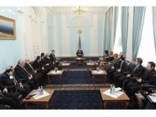 Президент Серж Саргсян принял участников заседания комиссии Евронест