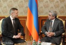 Serzh Sarsgyan received Ilka Laitinen, Head of the European Union's border agency Frontex