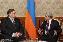 Серж Саргсян принял новоназначенного руководителя ереванского офиса ОБСЕ Андрея Сорокина