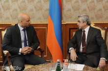 Serzh Sargsyan received NATO Secretary General's Special Representative James Appathurai