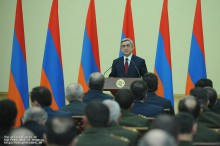 Congratulatory Address by President Serzh Sargsyan on the occasion of the 20th anniversary of the creation of the Armed Forces of Armenia