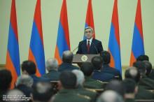 Поздравительное послание Президента РА Сержа Саргсяна в связи с 20-летием создания Вооруженных сил Республики Армения