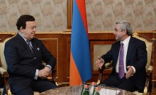 President Serzh Sargsyan received the USSR People's Artist Iosif Kobzon