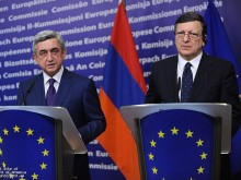 Սերժ Սարգսյանը Բելգիայում հանդիպում է ունեցել Եվրոպական հանձնաժողովի նախագահ Ժոզե Մանուել Բառոզուի հետ