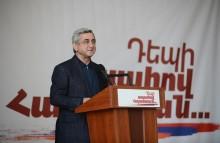 Սերժ Սարգսյանի նախընտրական ելույթը Կապանում