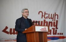 Pre-election speech of Serzh Sargsyan in Kapan