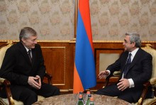 President Serzh Sargsyan received the Secretary General of the CSTO Nikolay Bordyuzha