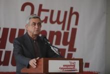 Սերժ Սարգսյանի ելույթը Արտաշատ քաղաքում