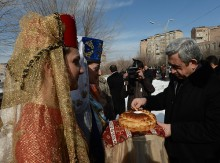 Serzh Sargsyan's meetings in Kotayk region and Sevan city