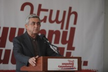 Serzh Sargsyan's pre-election speech in Artashat