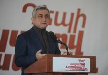 Սերժ Սարգսյանի ելույթը Գյումրի քաղաքում