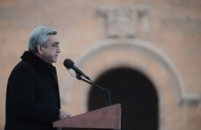 Serzh Sargsyan's speech in the city of Ashtarak