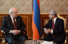President Serzh Sargsyan received the delegation of the CIS observation mission