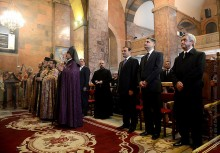 PRESIDENT SERZH SARGSYAN ATTENDED THE SAINT LITURGY OF CANDLE-LIGHTING