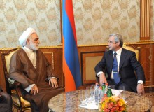PRESIDENT SERZH SARGSYAN RECEIVED THE PROSECUTOR GENERAL OF IRAN GHOLAM-HOSSEIN MOHSENI EJEI