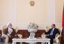 RA NA President Hovik Abrahamyan Receives with the Prosecutor General of the Islamic Republic of Iran