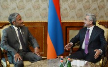 PRESIDENT SERZH SARGSYAN RECEIVED DR. HARIB AL AMIMI, PRESIDENT OF THE STATE AUDIT INSTITUTION OF THE UNITED ARAB EMIRATES