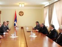 ԼՂՀ նախագահ Բակո Սահակյանն ընդունել է Արմեն Աշոտյանին