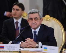 Президент Армении Серж Саргсян в Москве принимает участие в заседании Межгосударственного совета ЕврАзЭС