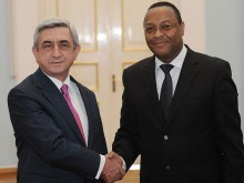 The Ambassador of Ethiopia Kassahun Dendier Melisi presented his credentials to Serzh Sargsyan