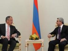Նախագահ Սերժ Սարգսյանն ընդունել է ՌԴ արտաքին գործերի նախարար Սերգեյ Լավրովին