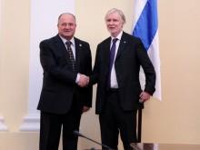 ՀՀ ԱԺ նախագահն ընդունեց Ֆինլանդիայի ԱԳ նախարարի գլխավորած պատվիրակությանը