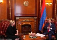 ՀՀ ԱԺ նախագահ Հովիկ Աբրահամյանն ընդունեց Հայաստանում Լատվիայի դեսպանին