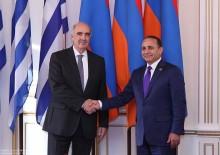 ՀՀ ԱԺ նախագահ Հովիկ Աբրահամյանն ընդունեց Հունաստանի խորհրդարանի նախագահին