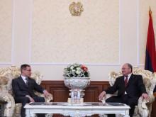 ԱԺ նախագահ Սամվել Նիկոյանն ընդունեց Հայաստանում Լատվիայի արտակարգ եւ լիազոր դեսպանին