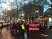 Նիդերլանդների հայ համայնքը ջահերով երթ է կազմակերպել դեպի Թուրքիայի դեսպանատուն